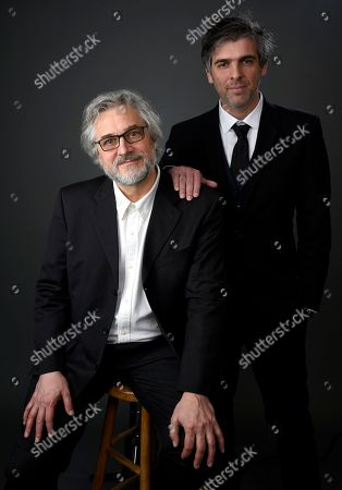 Michael Dudok de Wit, left, and Laurent Perez Del Mar pose for a portrait at the 89th Academy Awards Nominees Luncheon at The Beverly Hilton Hotel, in Beverly Hills, Calif