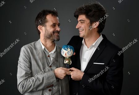 Claude Barras, left, and Max Karli pose for a portrait at the 89th Academy Awards Nominees Luncheon at The Beverly Hilton Hotel, in Beverly Hills, Calif