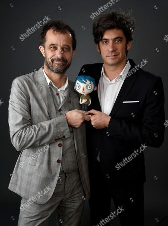 "Claude Barras, left, and Max Karli pose for a portrait at the 89th Academy Awards Nominees Luncheon at The Beverly Hilton Hotel, in Beverly Hills, Calif. Their film, ""My Life as a Zucchini,"" is nominated for best animated feature"