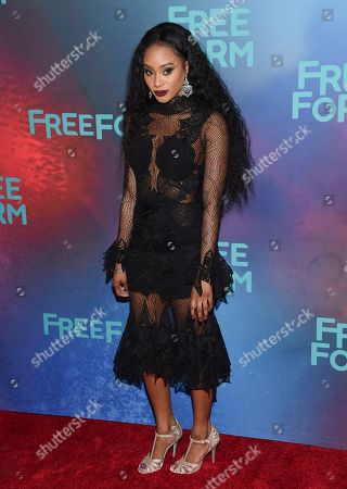 Pepi Sonuga attends the ABC Freeform 2017 Upfront at the Hudson Mercantile, in New York