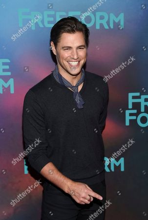 Actor Sam Page attends the ABC Freeform 2017 Upfront at the Hudson Mercantile, in New York