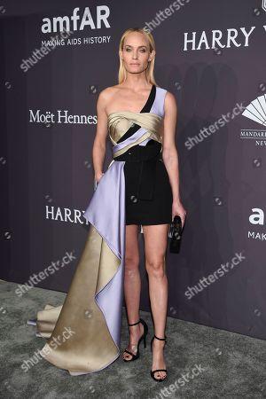 Amber Valetta attends amfAR's Fashion Week New York Gala at Cipriani Wall Street, in New York
