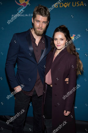 "Luke Mitchell and Rebecca Breeds attend ""A Virtual Tour of Australia"" celebrating Australia day at Hudson Mercantile, in New York"