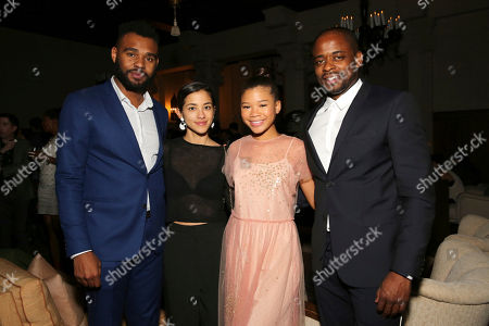 """Director/co-writer J.D. Dillard, Seychelle Gabriel, Storm Reid and Dule Hill seen at a Special Screening of BH Tilt and WWE Studios' """"Sleight"""" after party at MacArthur, in Los Angeles"""