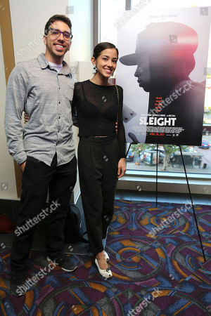 """Dylan Gabriel and Seychelle Gabriel seen at a Special Screening of BH Tilt and WWE Studios' """"Sleight"""" at the Regal Cinemas at LA Live, in Los Angeles"""