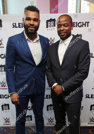"J.D. Dillard and Dule Hill seen at a Special Screening of BH Tilt and WWE Studios' ""Sleight"" at the Regal Cinemas at LA Live, in Los Angeles"
