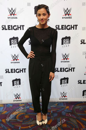 """Seychelle Gabriel seen at a Special Screening of BH Tilt and WWE Studios' """"Sleight"""" at the Regal Cinemas at LA Live, in Los Angeles"""