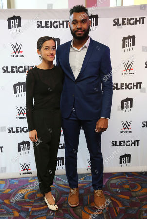 """Seychelle Gabriel and J.D. Dillard seen at a Special Screening of BH Tilt and WWE Studios' """"Sleight"""" at the Regal Cinemas at LA Live, in Los Angeles"""