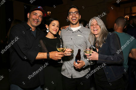 """Guy Gabriel, Seychelle Gabriel, Dylan Gabriel and Michelle Gabrielle seen at a Special Screening of BH Tilt and WWE Studios' """"Sleight"""" after party at MacArthur, in Los Angeles"""