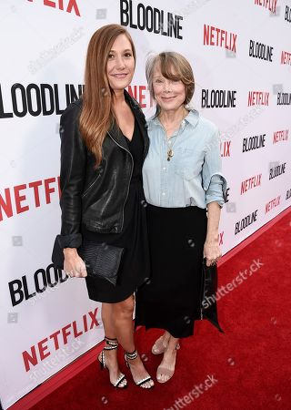 """Actress Sissy Spacek, right, and her daughter, singer Schuyler Fisk seen at the Netflix special screening and FYC conversation for """"Bloodline"""" season 3 at the ArcLight Culver City on in Culver City, Calif"""