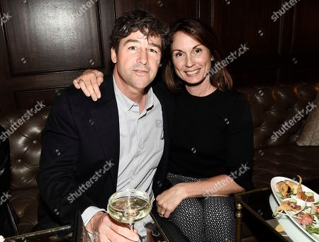 "Actor Kyle Chandler, left, and his wife Kathryn Chandler seen at the Netflix special screening and FYC conversation for ""Bloodline"" season 3 at the ArcLight Culver City on in Culver City, Calif"