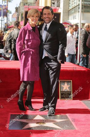 Minister for Foreign Affairs The Hon Julie Bishop and Brett Ratner seen at ceremony honoring him with a star on the Hollywood Walk of Fame, in Los Angeles
