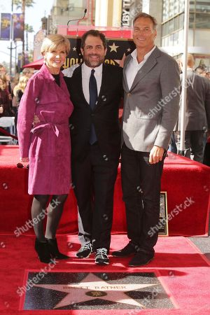 Minister for Foreign Affairs The Hon Julie Bishop, Brett Ratner and David Panton seen at Brett Ratner honored with a star on the Hollywood Walk of Fame, in Los Angeles