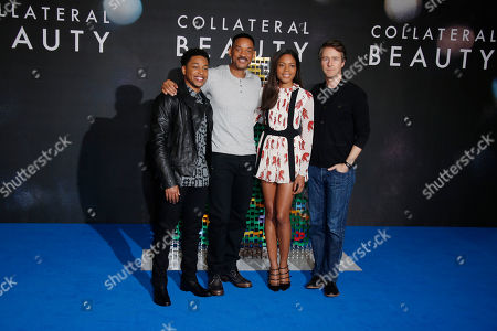 From left, actors Jacob Latimore, Will Smith, Naomie Harris and Ed Norton pose for photographers during a photo call for the film 'Collateral Beauty' in London