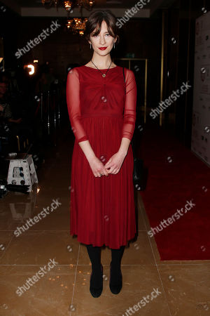 Stock Picture of Sofia Safonova poses for photographers upon arrival at the 37th London Critics Circle Film Awards in central London