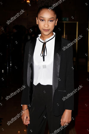 Stock Photo of Sennia Nanua poses for photographers upon arrival at the 37th London Critics Circle Film Awards in central London
