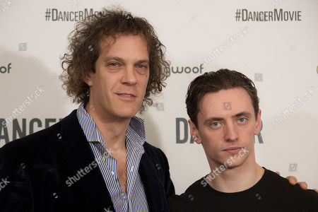 Ukrainian ballet dancer Sergei Polunin, right and Director Steven Cantor pose for photographers upon arrival at the premiere of Dancer in a central London theatre, . Polunin became the Royal ballet's youngest ever principal, and the documentary examines the life and career of the ballet dancer from his early days in the Ukraine, to his performances in the United Kingdom, Russia and America