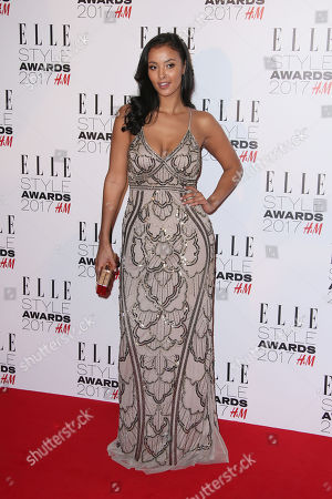 Maya James poses for photographers upon arrival at the Elle Style Awards in London on