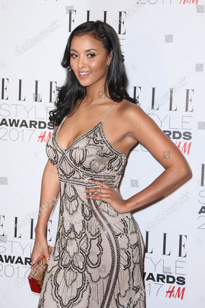 Stock Picture of Maya James poses for photographers upon arrival at the Elle Style Awards in London on