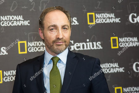 Actor Michael McElhatton poses for photographers upon arrival at the premiere of the film 'Genius', in London