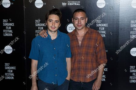 Stock Photo of Dan Sickles and Antonio Santini pose for photographers during a photo call to promote the opening of the Sundance Film Festival in London