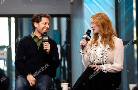 """Director Richie Keen and actress Christina Hendricks participates in the BUILD Speaker Series to discuss the film """"Fist Fight"""" at AOL Studios, in New York"""
