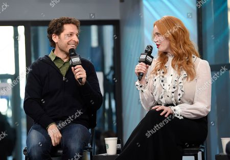 """Stock Photo of Director Richie Keen and actress Christina Hendricks participates in the BUILD Speaker Series to discuss the film """"Fist Fight"""" at AOL Studios, in New York"""