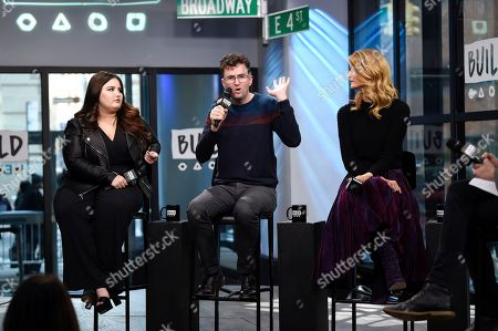 "Stock Photo of Actress Isabella Amara, left, director Craig Johnson and actress Laura Dern participate in the BUILD Speaker Series to discuss the film ""Wilson"" at AOL Studios, in New York"