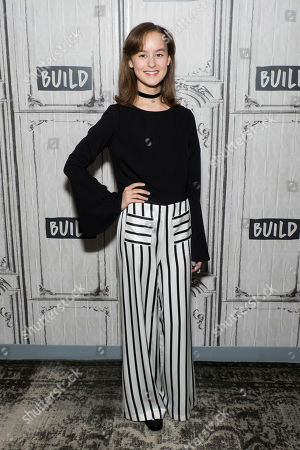 """Stock Photo of Sydney Lucas participates in the BUILD Speaker Series to discuss the new AMC drama """"The Son"""" at AOL Studios, in New York"""