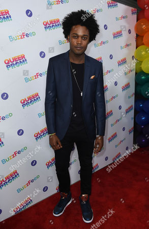 Echo Kellum attends BuzzFeed's Inaugural Queer Prom at Siren Studios on in Los Angeles. The event honored every student's right to experience prom. BuzzFeed selected six high school students from across the country to join the festivities. Other guests included local LA area LGBT high school seniors, celebrities, performers, and advocates who will all be featured in a special BuzzFeed video series