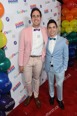 Casey Breves, left, and Sam Tsui attend BuzzFeed's Inaugural Queer Prom at Siren Studios on in Los Angeles. The event honored every student's right to experience prom. BuzzFeed selected six high school students from across the country to join the festivities. Other guests included local LA area LGBT high school seniors, celebrities, performers, and advocates who will all be featured in a special BuzzFeed video series