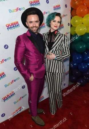 Brian Justin Crum and Evan Rachel Wood attend BuzzFeed's Inaugural Queer Prom at Siren Studios on in Los Angeles. The event honored every student's right to experience prom. BuzzFeed selected six high school students from across the country to join the festivities. Other guests included local LA area LGBT high school seniors, celebrities, performers, and advocates who will all be featured in a special BuzzFeed video series