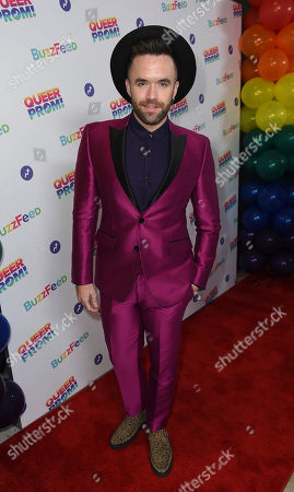 Stock Image of Brian Justin Crum attends BuzzFeed's Inaugural Queer Prom at Siren Studios on in Los Angeles. The event honored every student's right to experience prom. BuzzFeed selected six high school students from across the country to join the festivities. Other guests included local LA area LGBT high school seniors, celebrities, performers, and advocates who will all be featured in a special BuzzFeed video series