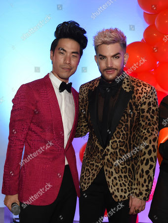 Eugene Lee Yang, left, and Adam Lambert attend BuzzFeed's Inaugural Queer Prom at Siren Studios on in Los Angeles. The event honored every student's right to experience prom. BuzzFeed selected six high school students from across the country to join the festivities. Other guests included local LA area LGBT high school seniors, celebrities, performers, and advocates who will all be featured in a special BuzzFeed video series