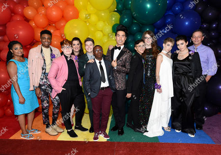 Eugene Lee Yang, center, and the prom court attend BuzzFeed's Inaugural Queer Prom at Siren Studios on in Los Angeles. The event honored every student's right to experience prom. BuzzFeed selected six high school students from across the country to join the festivities. Other guests included local LA area LGBT high school seniors, celebrities, performers, and advocates who will all be featured in a special BuzzFeed video series