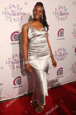 Stock Photo of Aryana Williams arrives at the Center Theatre Group 50th Anniversary event, in Los Angeles