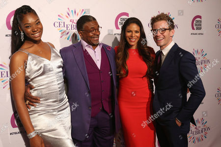 Stock Picture of Aryana Williams, from left, Keith David, Merle Dandridge and Barrett Foa arrive at the Center Theatre Group 50th Anniversary event, in Los Angeles