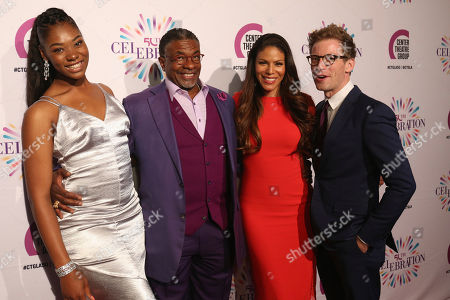 Stock Image of Aryana Williams, from left, Keith David, Merle Dandridge and Barrett Foa arrive at the Center Theatre Group 50th Anniversary event, in Los Angeles