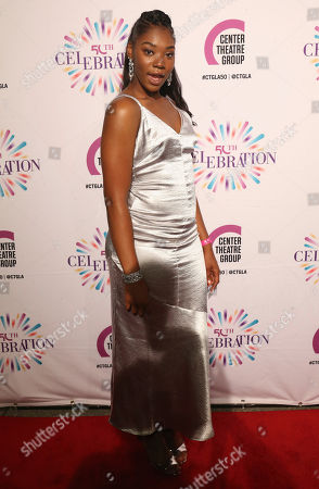 Aryana Williams arrives at the Center Theatre Group 50th Anniversary event, in Los Angeles