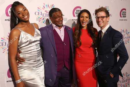 Aryana Williams, from left, Keith David, Merle Dandridge and Barrett Foa arrive at the Center Theatre Group 50th Anniversary event, in Los Angeles