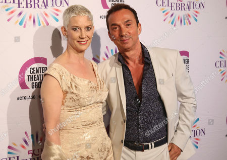 Patricia Ward Kelly, left, and Bruno Tonioli arrive at the Center Theatre Group 50th Anniversary event, in Los Angeles