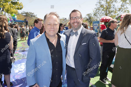 """Director Kelly Asbury and Composer Christopher Lennertz seen at Columbia Pictures and Sony Pictures Animation Present the World Premiere of """"Smurfs: The Lost Village"""" at ArcLight Culver City, in Culver City, Calif"""