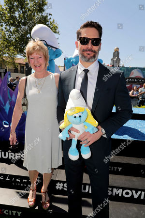"""Veronique Culliford and Joe Manganiello seen at Columbia Pictures and Sony Pictures Animation Present the World Premiere of """"Smurfs: The Lost Village"""" at ArcLight Culver City, in Culver City, Calif"""