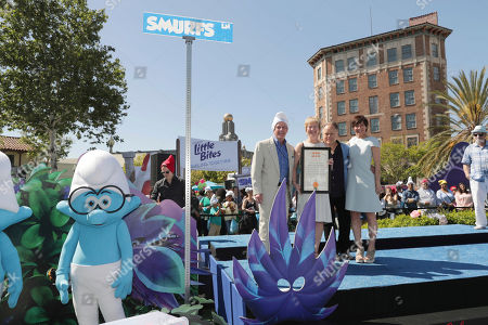 """Editorial photo of Columbia Pictures and Sony Pictures Animation Present the World Premiere of """"Smurfs: The Lost Village"""", Culver City, USA - 1 Apr 2017"""