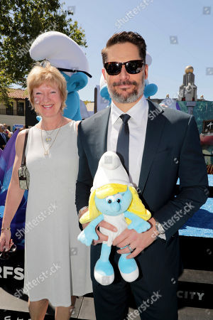 """Stock Picture of Veronique Culliford and Joe Manganiello seen at Columbia Pictures and Sony Pictures Animation Present the World Premiere of """"Smurfs: The Lost Village"""" at ArcLight Culver City, in Culver City, Calif"""