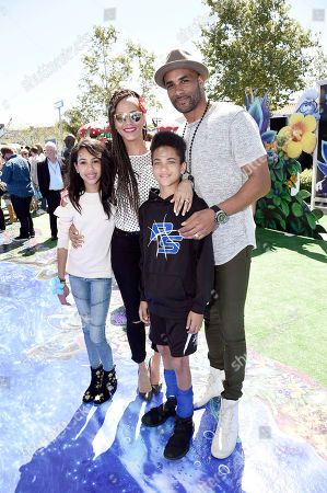 "Stock Image of Sophie Tei Naaki Lee Kodjoe, Nicole Ari Parker, Nicolas Neruda Kodjoe and Boris Kodjoe seen at Columbia Pictures and Sony Pictures Animation Present the World Premiere of ""Smurfs: The Lost Village"" at ArcLight Culver City, in Culver City, Calif"