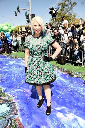 """Shaley Scott seen at Columbia Pictures and Sony Pictures Animation Present the World Premiere of """"Smurfs: The Lost Village"""" at ArcLight Culver City, in Culver City, Calif"""