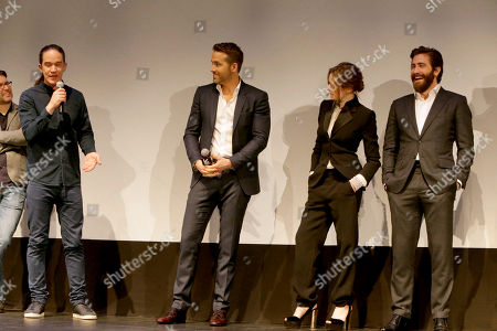 """Director Daniel Espinosa, Ryan Reynolds, Rebecca Ferguson and Jake Gyllenhaal seen at Columbia Pictures World Premiere of """"Life"""" the movie at SXSW 2017, in Austin, TX"""