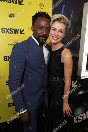 """Ariyon Bakare and Olga Dihovichnaya seen at Columbia Pictures World Premiere of """"Life"""" the movie at SXSW 2017, in Austin, TX"""