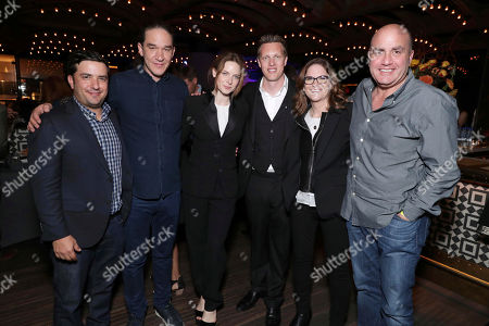 """Josh Greenstein, President, Sony Pictures Worldwide Marketing & Distribution, Director Daniel Espinosa, Rebecca Ferguson, Producer David Ellison, Producer Dana Goldberg and Executive Producer Don Granger seen at Columbia Pictures World Premiere of """"Life"""" the movie at SXSW 2017, in Austin, TX"""